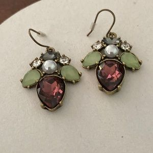 RARE Berry Beau Monde Drop Earrings Chloe + Isabel